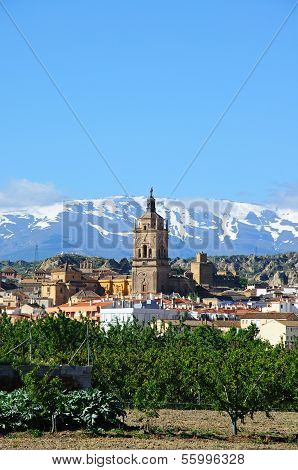 Cathedral and town, Guadix, Spain.