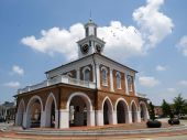 Designated a National Landmark and listed on the National Register of Historic Places, the Market House is the symbol of Fayetteville, NC. It was built in 1832. poster