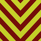 Red and yellow abstract ambulance striped background in arrow shape poster