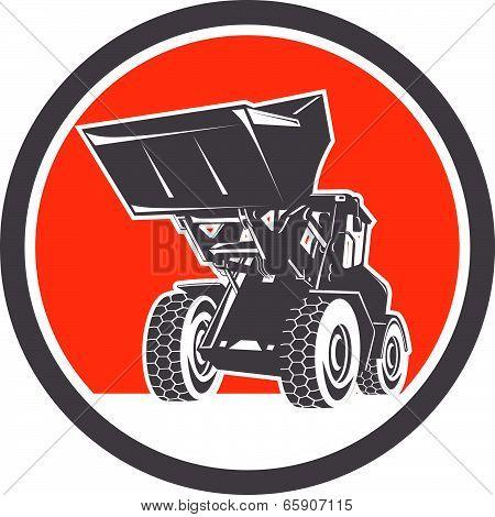Front End Loader Digger Excavator Circle Retro