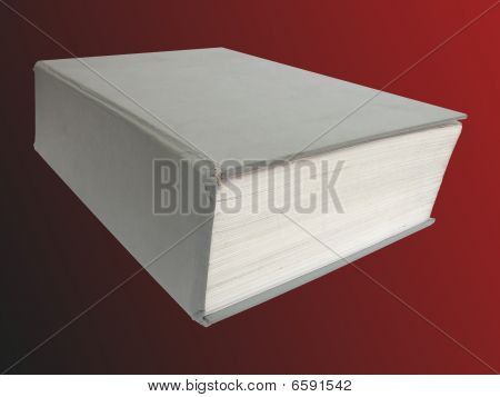 Big Book On Red Background