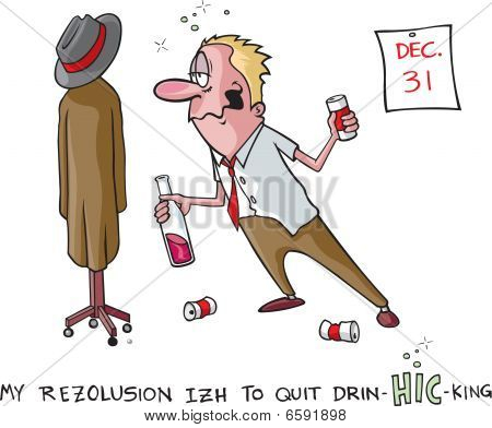 Stop drinking resolution
