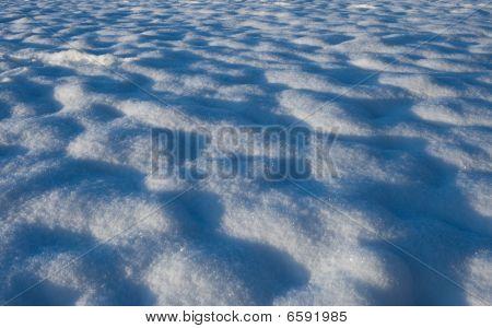 Snow On A Field
