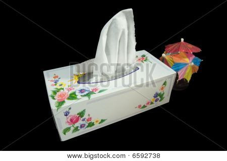 A Box Of White Napkins