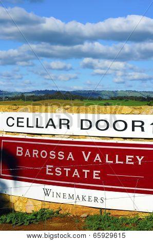 Barossa Valley, South Australia – May 29, 2014: Cellar Door Signage For Barossa Valley Estate Winema