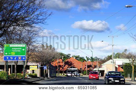 Barossa Valley, South Australia – May 29, 2014: Main Township Of Nuriootpa On Barossa Valley Way Hig