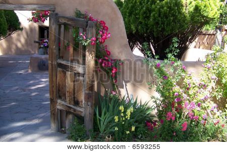 Gate to Santuario de Chimayo