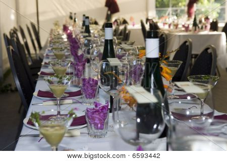 Party Dinner Table