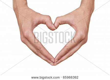 Heart Shape Made Of Two Female Hands
