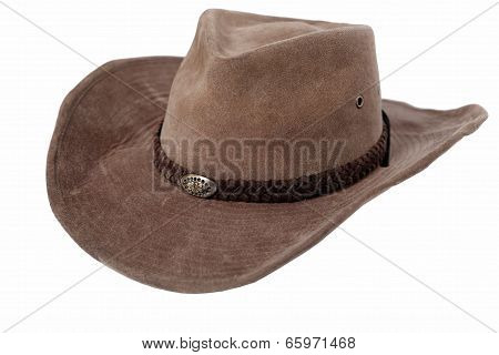 Leather Cowboy Hat Isolated