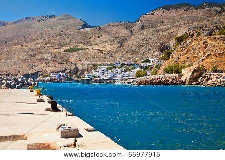 Chora Sfakion And Blue Lybian Sea