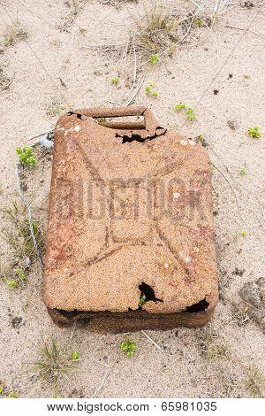 Big Old Rusty Fuel Jerrican