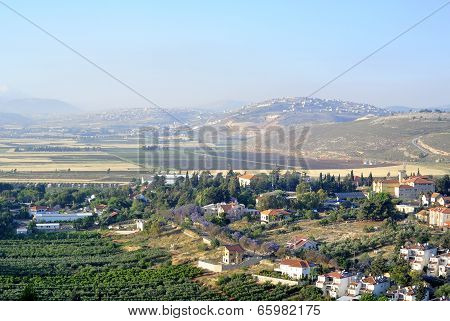 Metula lookout view near Lebanon border in Israel. poster