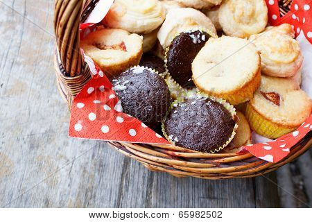 Muffins In Picnic Basket