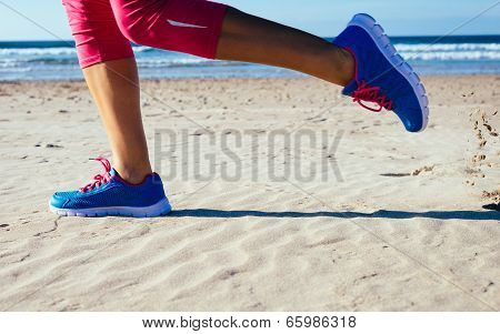 Running At Beach