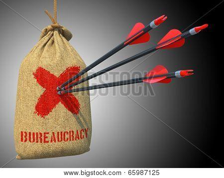 Bureaucracy - Arrows Hit in Red Mark Target.