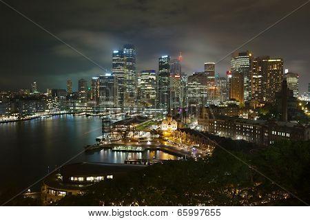 Night skyline of Sydney, Australia