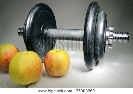 Dumbbell And Apples