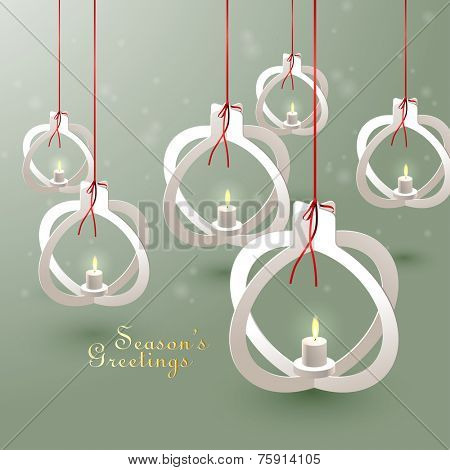 Vector Paper Christmas Bauble Sculptures poster