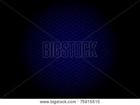 Vector illustration - background of blue laser grid in circle poster