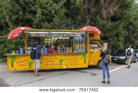 Kiosk On The Roadside- Tour De France 2014