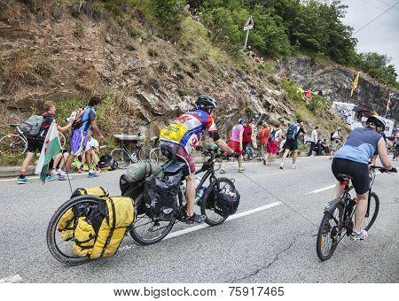 Amateur Cyclists On The Roads Of Le Tour De France