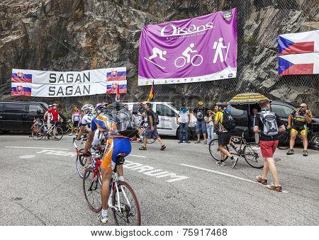 Fans On The Roads Of Le Tour De France