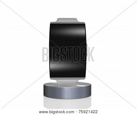 Black Glass Curve Interface Smartwatch On Showcase