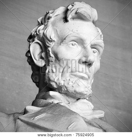 Abraham Lincoln statue at Lincoln Memorial