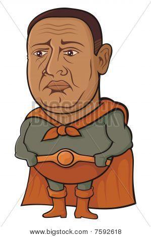 Sad superhero
