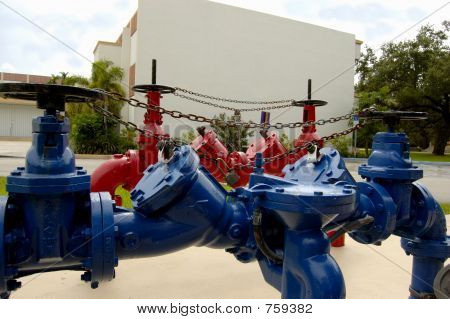 Blue and Red valve