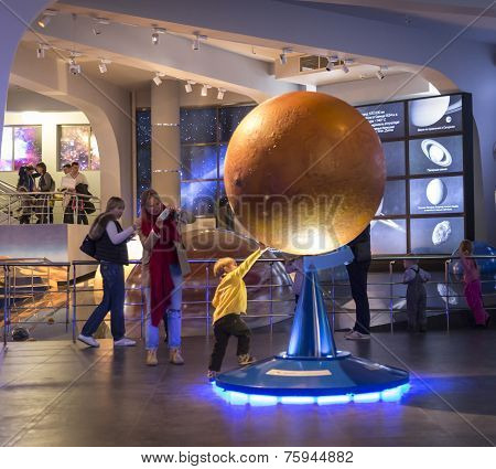 Moscow, Russia - September 28: Exhibition In Moscow Planetarium On September 28, 2014 In Moscow. One
