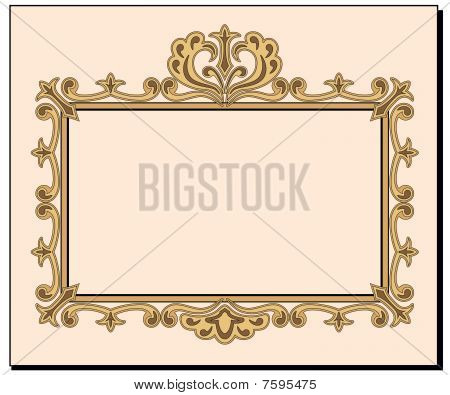 Blank Ornate Invitation Card