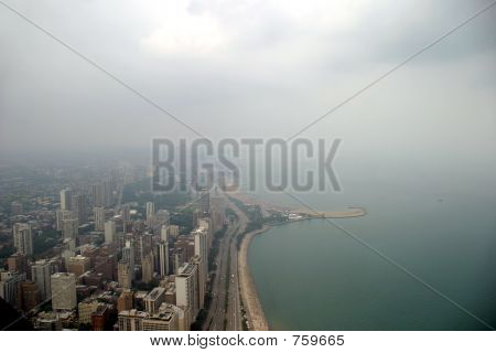Chicago - North side on a foggy day