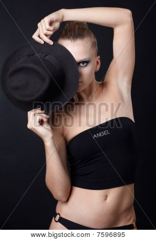 Beautiful Model In Hat