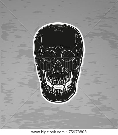 Skull With Vampire Teeth