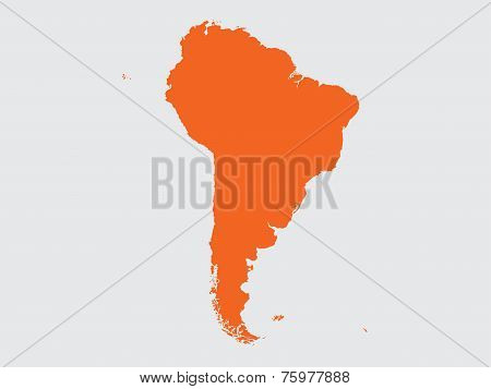 Shape Of The Continent Of  South America
