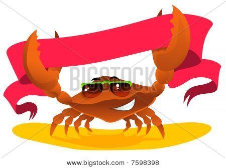 Crab With Ribbon.