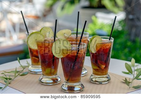 Glasses With Rum Cocktail