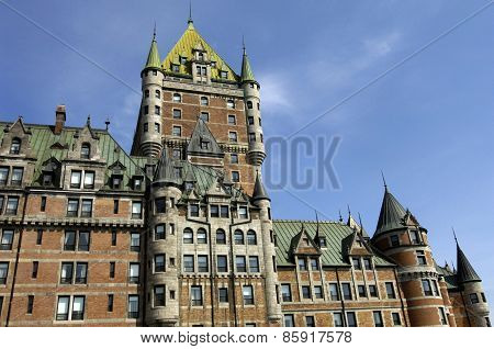 Le Chateau Frontenac In The City Of Quebec