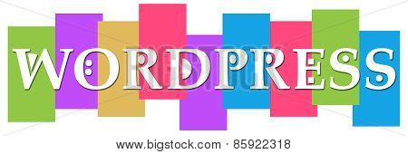 Wordpress Text Colorful Stripes