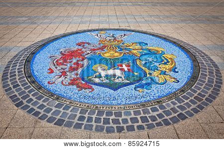 Mosaic With Coat Of Arms Of Debrecen, Hungary