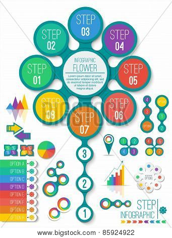 Infographic design color elements