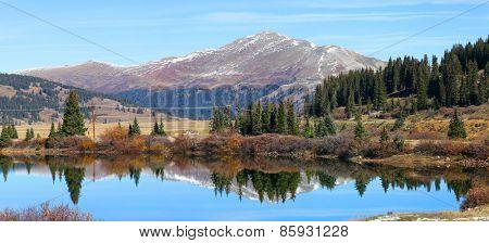 Panoramic view of Scenic landscape near Leadville Colorado