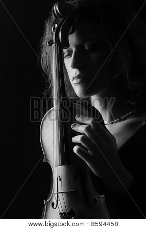 Classical black and white woman