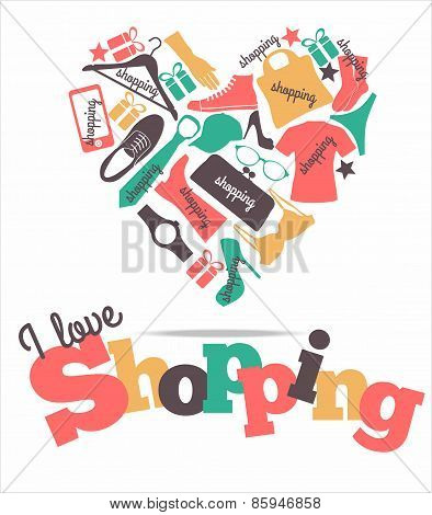 Vector stock illustration of shopping