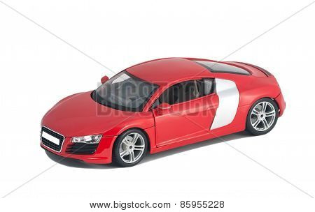 Red Car Audi R8 Front View