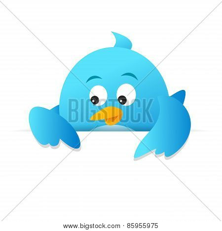 Blue Bird Blank Page