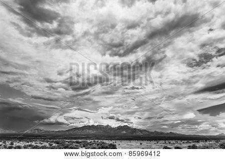 Humidity buildup in sky during monsoon season in Arizona USA poster