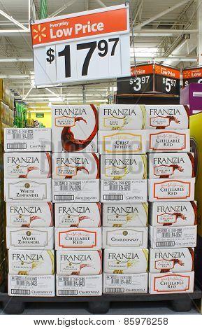 Franzia boxed wines